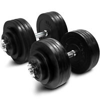 Yes4All 200 lb Adjustable Weight Dumbbells for Gym Fitness (a Pair)