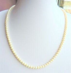 Cultured Pearl Necklace 110x4mm Pearls 18 inches Silver Clasp
