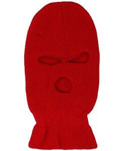 3-Hole Winter Knitted Full Face Cover Ski Mask, Winter Balaclava Warm Beanie