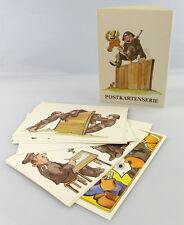 Postkartenserie: 10 Postkarten mit Zeichnungen, Militärverlag der DDR, so322