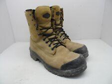 """Terra Men's 8"""" Sentry Steel Toe Steel Plate Work Boots Tan Size 8.5M"""