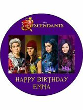 "Disney Descendants Personalised 7.5"" Birthday Cake Topper on Icing"