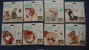 CRAFTERS COMPANION DEBBIE SHORE METAL DIE SETS FOR FABRICS DEEP DISH MIXED MEDIA