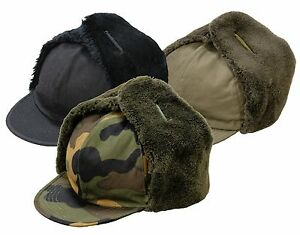 Army Trapper Hat Military Winter Hat Foreign Legion Camping Fishing Camo Cap New