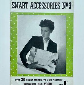 40s vintage Vogue Make Do & Mend fashion accessories hats millinery bags sandals