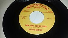 "MAXINE BROWN Funny / Now That You've Gone MUSCTONE 1117 SOUL DOO WOP 45 7"" VINYL"