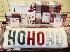 Pottery Barn Kids Morgan Queen Duvet Shams Santa Sheet Set Christmas Ho Ho Ho