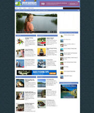 FISHING WEBSITE & STORE WITH ARTICLES & UK AFFILIATES + NEW FREE DOMAIN