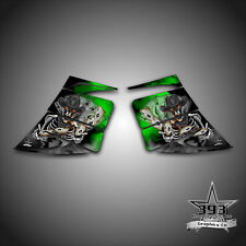 SKI-DOO REV MXZ SNOWMOBILE WRAP GRAPHIC SIDE PANEL DECAL 03-07 OUTLAW GREEN