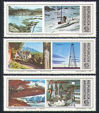 Argentina 1975 Antarctic/Oil Wells/Horses/Mountains/Polar/Tourism 3v set n33391