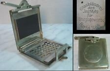 19C. ANTIQUE MEDICAL GERMAN BRONZE LENS PRESS - BERLIN