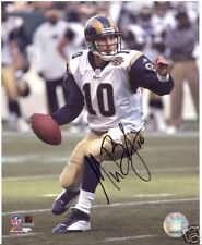 MARC BULGER ST. LOUIS RAMS SIGNED 8X10 PHOTO W/COA