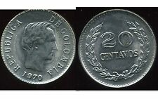 COLOMBIE 20 centavos   1970