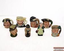 8 Royal Doulton Tobies Robinson Cursoe Robin Hood Capt Henry Morgan Sairey Gamp