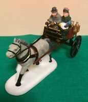 Dept 56 Heritage Village Red Sulky Horse Drawn Carriage - Porcelain