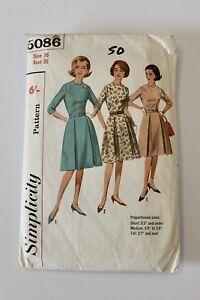 Vintage Simplicity 5086 -  1960's Proportioned Dress - Size 16 (36)  -  Comp
