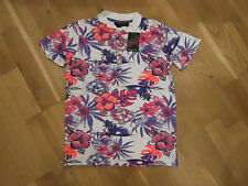 Polo Shirt NWT by Next in Girl's 8 Years - White/Purple/Pink Floral SP
