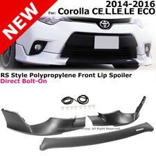 RS Style Corolla 14-16 CE L LE Eco Front Splitter Spoiler Bumper Valance Trim