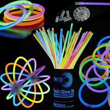 Glowz Glow Sticks Glow In The Dark Pulseras Premium (Colores Mezclados) 100