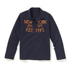 100% Cotton Azul Marino Polo Manga Larga Camisa en Age 4 6 8 And 10 Años Nuevo