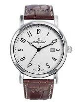 Schweizer Uhr, Mathey-Tissot City H611251AG, weiß/silber, arabisches Zifferblatt