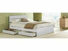 New 09H Home Bedford White Bed Frame 5Ft King Size Kingsize 2 Drawer Drawers