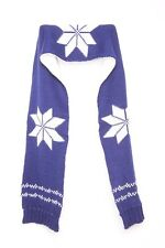 2 Sided Blue White Big Snow Flake Accent Warm Fun Young And Vibrant Scarf (S71)