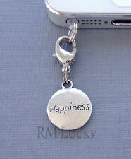 HAPPINESS Tag cell phone Charm Anti Dust proof  Plug ear cap jack C202