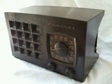 Brown Vintage Mid Century Admiral Super Aeroscope 1949 Radio Works!- Rough Cond.