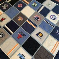 Pottery Barn Teen NBA Basketball Full Queen Comforter With Two Shams - Eastern