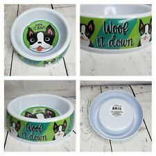 Woof It Down Logo Dog Food Water Dish