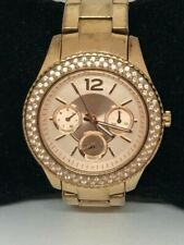 FOSSIL ES3590 Stella Women Rose Gold Stainless Steel Analog Rose Dial Watch E187