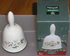 Pfaltzgraff~Winterberry~Hard Dolomite Bell-#5084499~NIB~Great Pattern & Theme