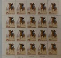US SCOTT 2818 PANE OF 20 BUFFALO SOLDIERS STAMPS 29 CENT FACE  MNH