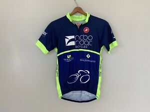 Castelli Brand Cycling Shirt Jersey Full Zip Logo Nebo Ridge Carmel Indiana Blue