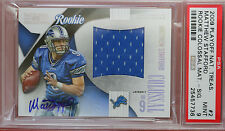 2009 PLAYOFF NATIONAL TREASURES Matthew Stafford auto. rookie card PSA 9 #44/50