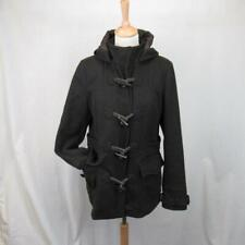 Ted Baker Duffle Coat Wool Blend Dark Brown w Hood Size 3 / 12 UK / 40 EU / 8 US