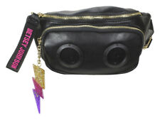 Betsey Johnson Women's Radio Speaker Black Fanny Pack Belt Handbag