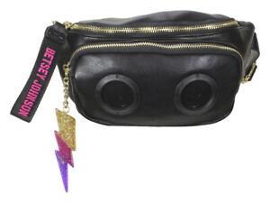 Betsey Johnson Women's Radio Speaker Black Fanny Pack Belt Handbag
