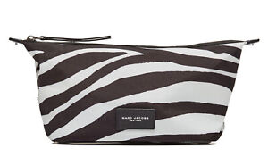 Marc Jacobs Zebra Printed Biker Large Landscape Pouch in Off White Multi