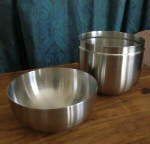 Brushed Stainless Steel Canister - MEDIUM 800ml