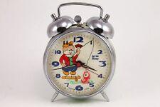 Vintage HERO Cat Fishing Animated Alarm Clock China 1960's