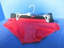 STEVE~2 Pairs Red & Black GLITTER BIKINI  PANTIES~Women's Medium~NWT
