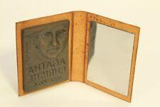 Rare 1992 Marika Somogyi Bronze Medal Sculpture & Mirror Agatha Christie Signed