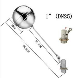 """1"""" BSP FLOAT VALVE STAINLESS STEEL AUTOMATIC WATER TROUGH CATTLE BOWL"""