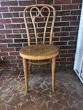 1 Vintage Thonet Style Bentwood Cafe Chair with Cane Seat Made In Poland