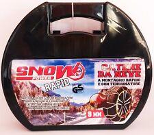 Catene da neve omologate  9 mm  GRUPPO 7  Pneumatici 185/65 Raggio 15
