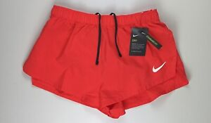 "Nike Fast 2"" Running Dri Fit Reflective Shorts CJ7845-635 Large $35"