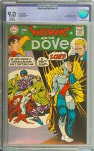 HAWK AND THE DOVE #1 CBCS 9.0 CR/OW PAGES
