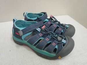 Youth KEEN NEWPORT H2 4 36 Teal Blue Pink Water Sport Hiking Trail Sandals Shoes